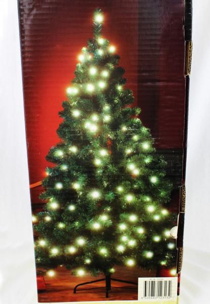 K nstlicher weihnachtsbaum 200 led 1 80 m beleuchtung 180 - Beleuchteter tannenbaum kunststoff ...