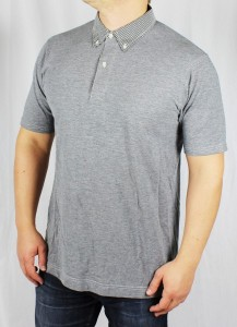 Wings + Horns Poloshirt W&H tee gray grau wingsandhorns