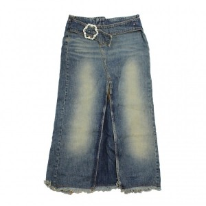 Mohave Jeansrock GONNA LUNGA YOUR CR303 blau blue dark 26 27 28 Wadenlang Rock