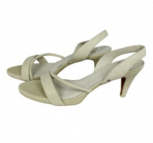 DIESEL Ledersandalen MAGIC Sandalen beige bone white Damen Sandaletten Pumps